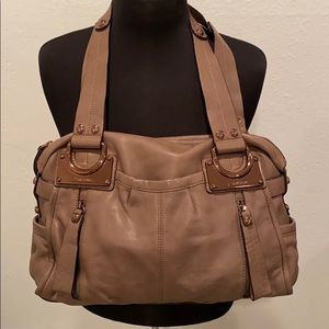 B. MAKOWSKY~Slouchy Leather Hobo Rose gold Taupe